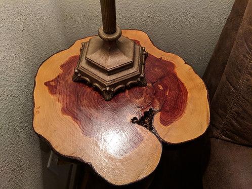 Round Cedar End Table