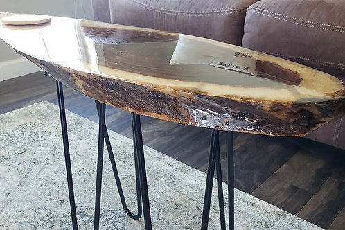 Custom Walnut Skinny End Table