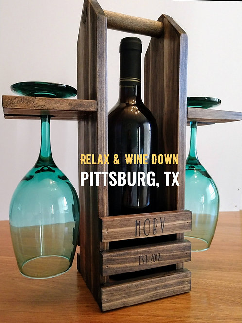 Personalized Wine Tote & Table