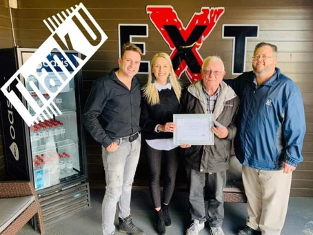 THABA Thanking Jacobus Paul Nicolaas Burger for 10 Years of Service!