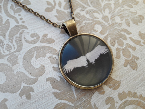 Angel wings glass pendant necklace angels necklaces for women mom angel wings glass pendant necklace angels necklaces for women mom gift aloadofball Gallery