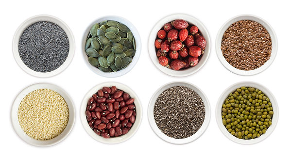 Set of superfood isolated on white backg