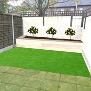 Artifical grass visualisation