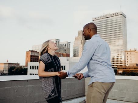 {Wesley + Olivia} Downtown Winston-Salem NC Engagement Session