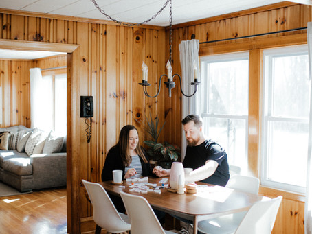 {In Home} Trevin + Katie Maternity Session