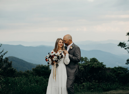 {25 Years} Asheville, NC Anniversary Session at Craggy Gardens in the Blue Ridge Mountains