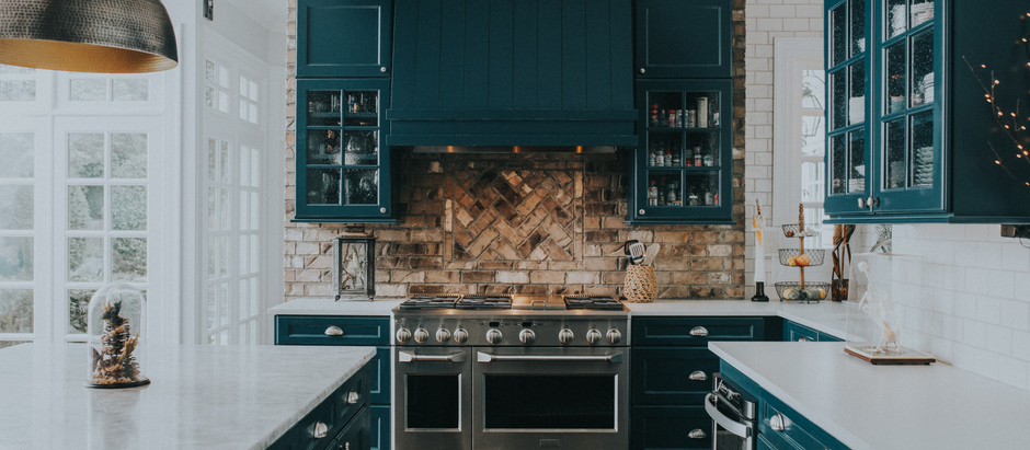 Eclectic Transitional Custom Color Kitchen