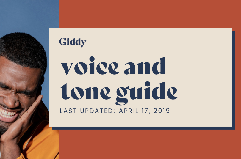 Giddy voice and tone guide