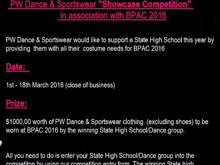 PW Dance 'Showcase Competition' for State High School Dance Groups