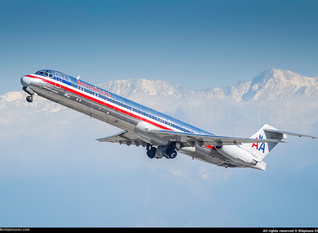 "American Airlines # Says goodbye to MD80 ""Madog"""