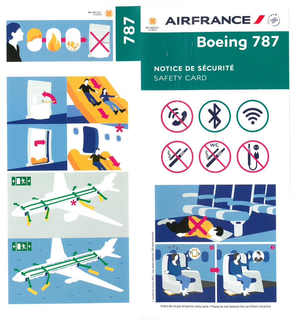 B787 Safety Card