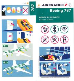 B787 Safety Card