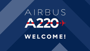 Air France # Unveils its first Airbus A220-300