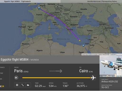 Breaking News : Crash MS 804 Flight CDG-CAI