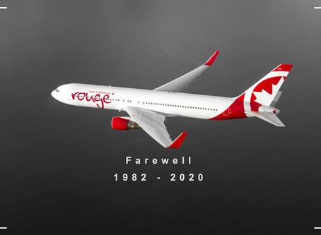 Air Canada Rouge # Farewell B767 Fleet
