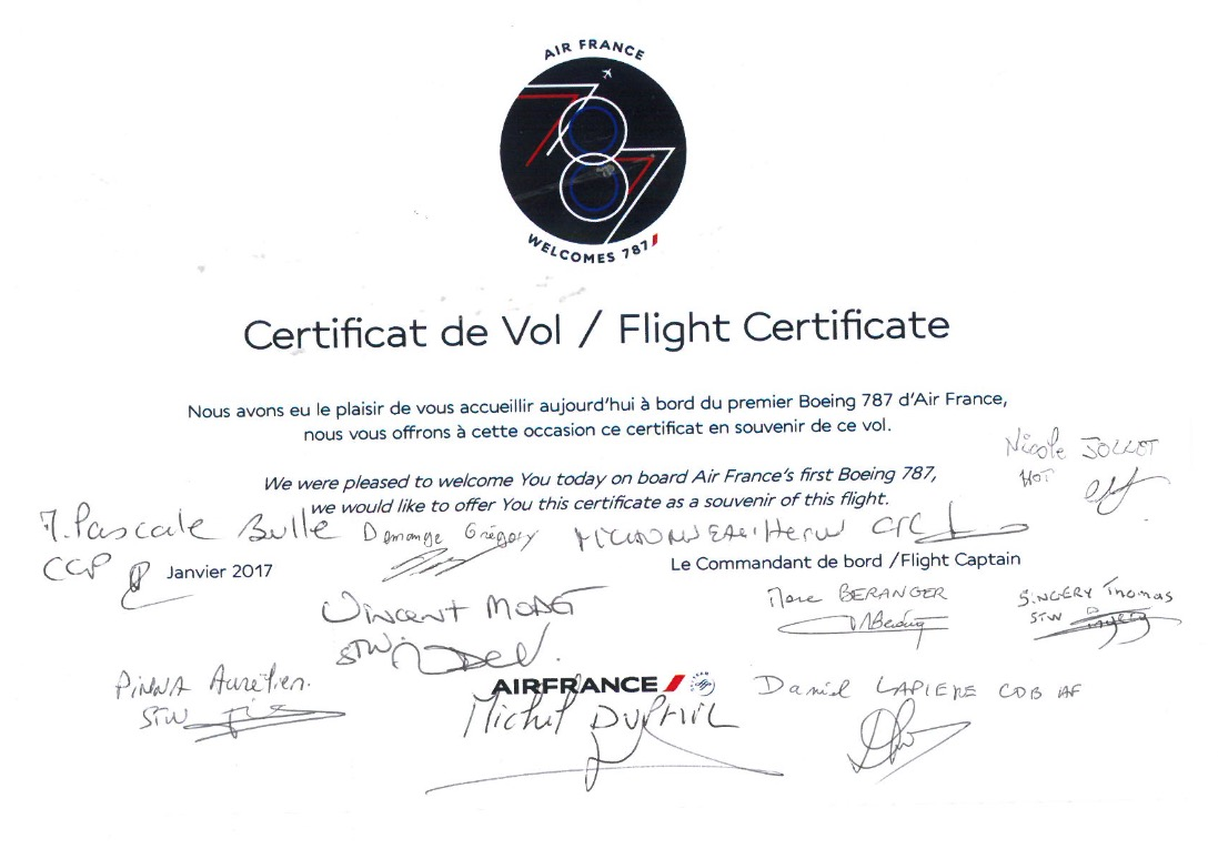 Flight Certificate