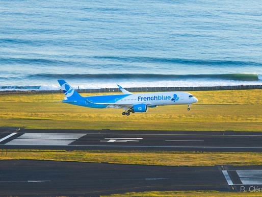 """New A350 """"French Blue"""" landing to Reunion Island"""