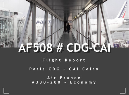 Air France # Flight Review • AF508 | CDG-CAI | A332 • Economy