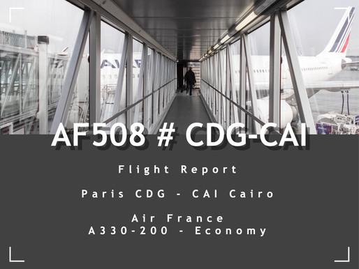 Air France # Flight Review • AF508 | CDG-CAI | A332 • Economy