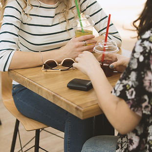 Girls in a Coffee Shop
