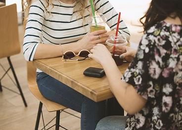 Girls in a Coffee Shop
