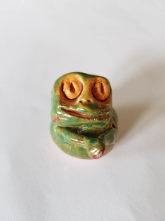 Marie's pottery frog