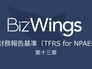 TFRS for NPAEs 第13章