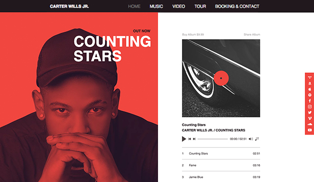 Soloartist website templates – Rapper