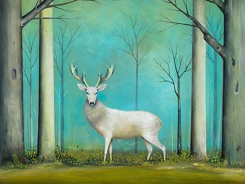 'White Stag' Limited Edition Giclée Print