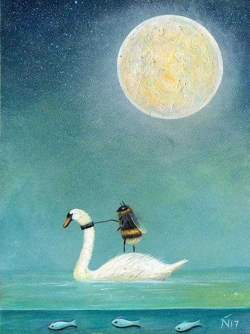 'Ride a White Swan' Giclee Print