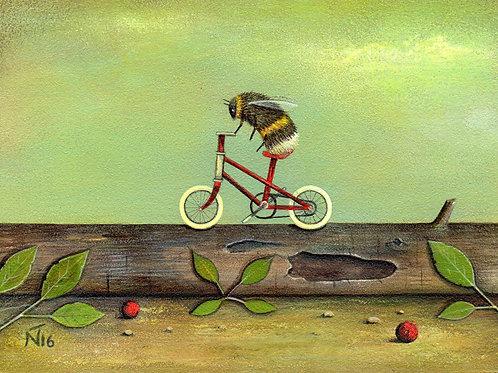 'Ride a Red Bike' Giclee Print