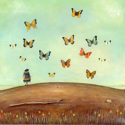 'The Butterfly Collector' Giclée Print