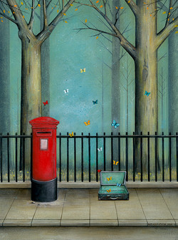 Postbox with Butterflies