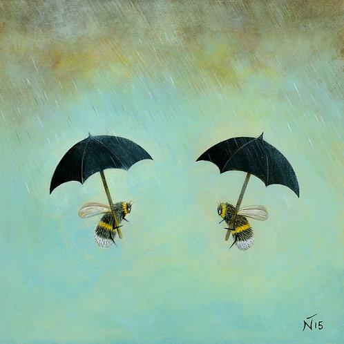 'Rainy Day Conversation' Giclee Print
