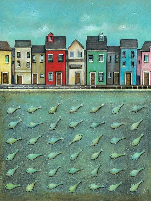 'Sea Town' Limited Edition Giclée Print
