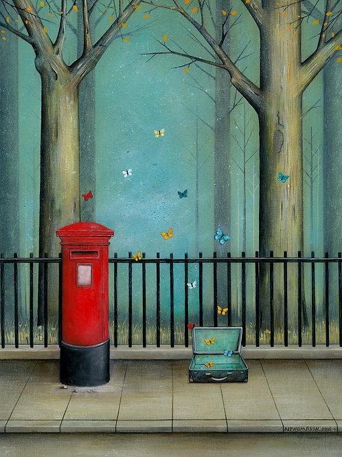 'Postbox with Butterflies'Ltd Edition Giclée Print