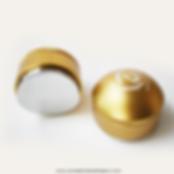 tamper de cafe dorado, compactador de cafe dorado