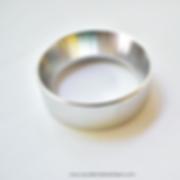 anillo para dosificar dorado, plata