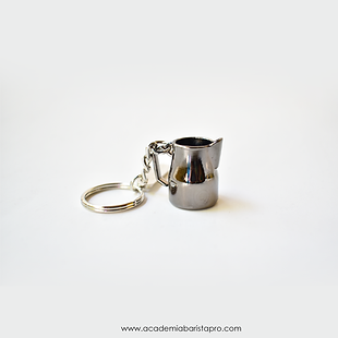 keychain, llavero de cafe, pichel de latte art