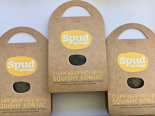 Charcoal Spud Sponge 3 pack