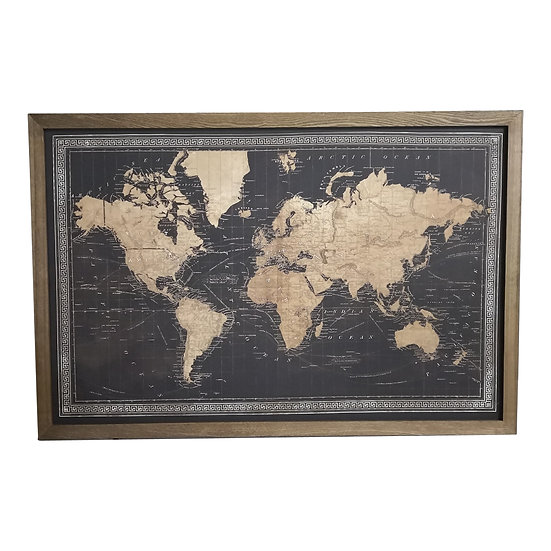 Black Light Up Map of the World