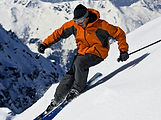 skier in courchevel using my french physio osteopath in courchevel