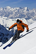 Mountain and Skier