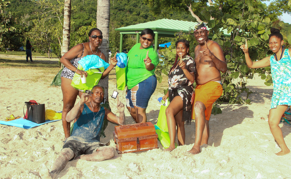 Winning Team from FirstBank VI's Beach Competition Treasure Hunt