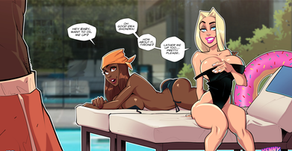 Pam and Shondra By the Pool - Pinup
