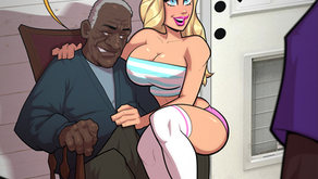 Molly Meets Grandpa Simmons - Pinup