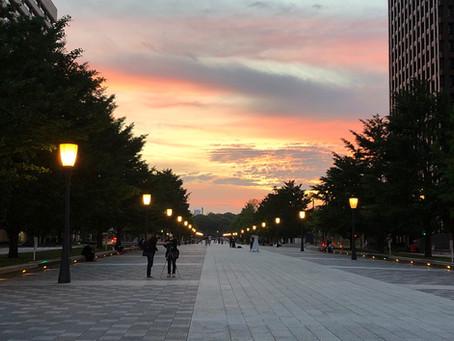 東京駅サンセット