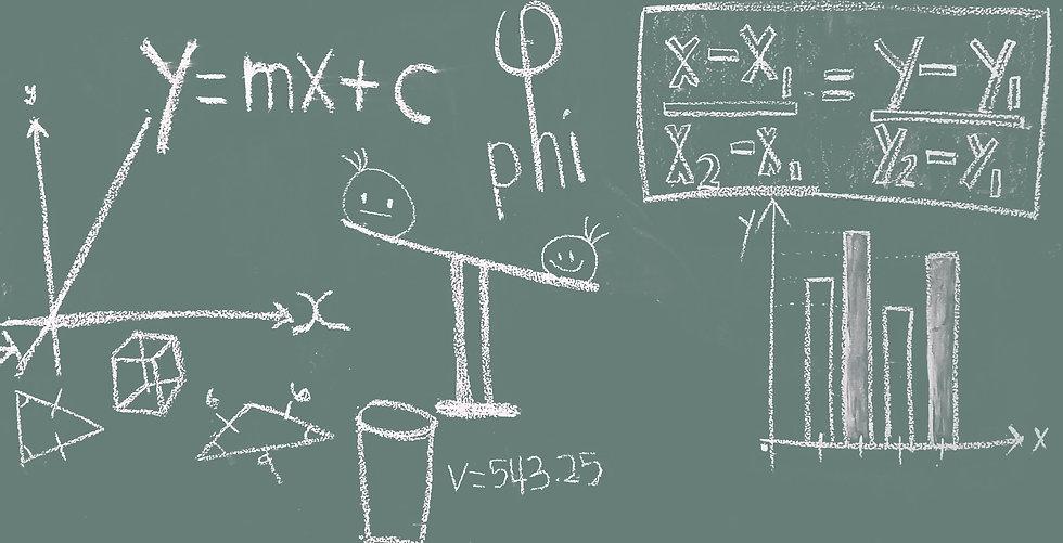 number-line-blackboard-scale-math-educat
