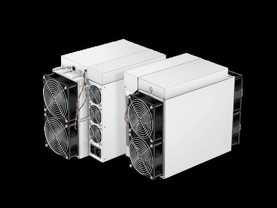 ASIC avec un hashrate de 110TH/s de l'algorithme SHA-256 pour une consommation d'énergie de 3259W