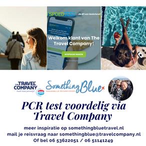 Voordeliger PCR test via Travel Company